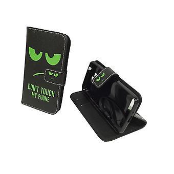 Toque em minha caixa do telefone móvel envelope de flap de vidro para proteção de tanque Huawei Y3 II caso carteira