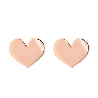 Orphelia Silver 925 Earring Rose Gold Hearts - ZO-7390
