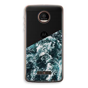Motorola Moto Z Force Transparent Case (Soft) - Ocean Wave