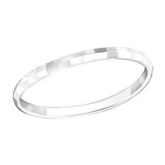 Faceta - anillos de llanura de plata esterlina 925 - W18292X