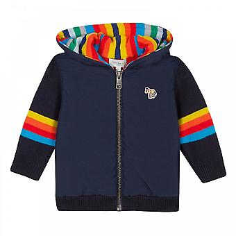 Paul Smith Infants Knitted Sleeve Hoodie (Navy)