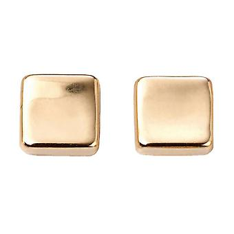 Elements Gold Square Stud Earrings - Gold