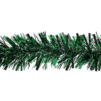 Green Chunky Tinsel Christmas Tree Decoration - 2m | Christmas Tree Decoration