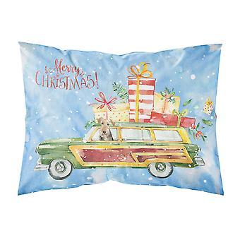メリー クリスマス ウェルシュ ・ テリア ファブリックの標準的な枕