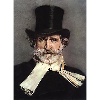 Ritratto di Giuseppe Verdi, Giovanni Boldini, 40x60cm con vassoio
