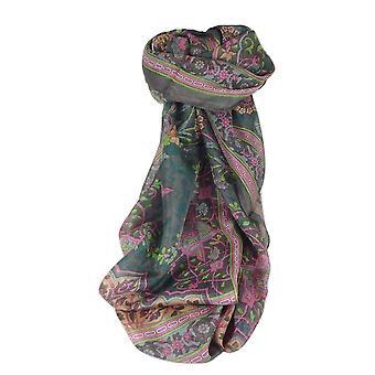 Mullbär Silk samtida lång halsduk Mina choklad av Pashmina & Silk