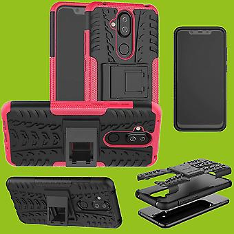 For Nokia 3.1 plus 6.0 inch hybrid case 2 piece SWL outdoor pink accessories bag case cover protection
