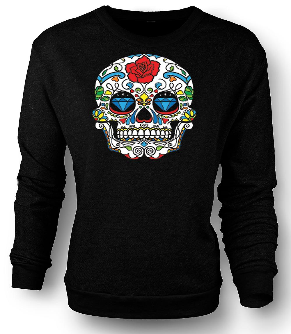 Mens Sweatshirt Mexicaanse suiker Skull - Dia De Los Muertos