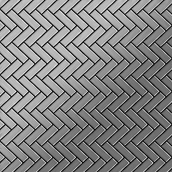 Mosaïque en métal massif Acier inoxydable ALLOY Herringbone-S-S-MB
