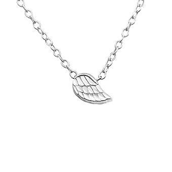 Flügel - 925 Sterling Silber Plain Halsketten - W17740X