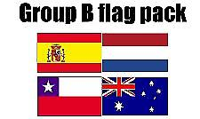 GRUPPE B Football World Cup 2014 flagg Pack (5 ft x 3 ft)