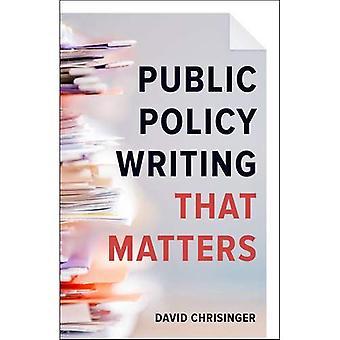 Escritura de política pública que importa