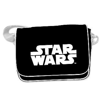 Star Wars Kuriertasche Logo (Messenger Bag) schwarz, bedruckt, aus PVC, mit verstellbarem Tragegurt.