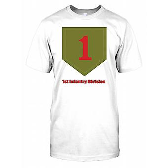 1st Infantry Division Insignia Mens-T-Shirt