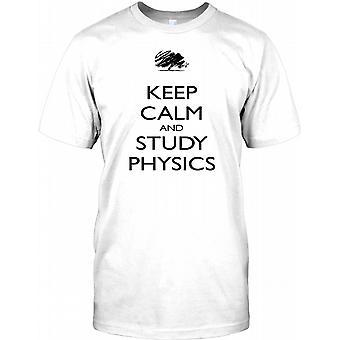 Holde ro og studere fysikk - Kids T skjorte