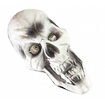 6 Halloween grusomheter halv Skull dekorasjon 42 Cm X 20 Cm lys øyne (WSL310086)