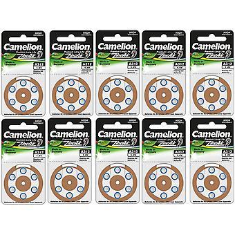 60 (10 x 6) Camelion zink-lucht gehoorapparaat batterijen 312, A312, PR41