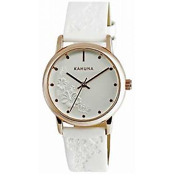 Kahuna Ladies White Leather Strap KLS-0304L Watch
