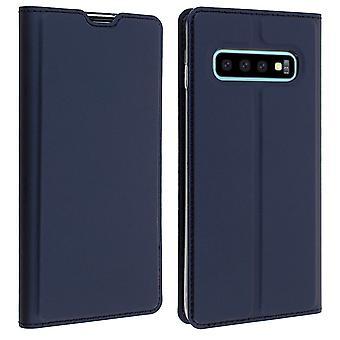Slim flip wallet case, Business series for Samsung Galaxy S10 Plus - Dark blue