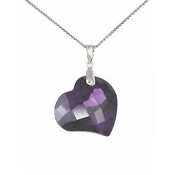 Cavendish French Amethyst CZ Heart Pendant without Chain