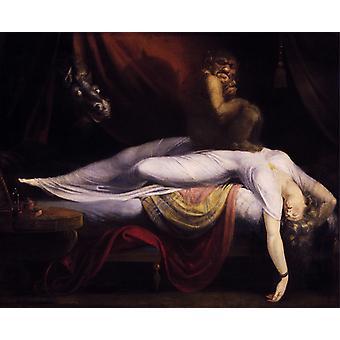 Le cauchemar, Johann Heinrich Fuseli, 50x40cm