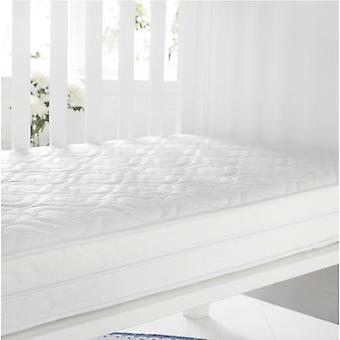 Quilted Anti-Allergenic Breathable Foam Cot Mattress. Size: 60cm x 120cm, 10cm Depth