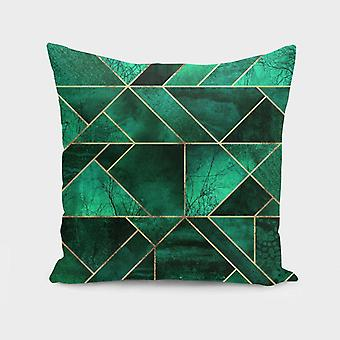 Abstract nature - emerald green  cushion/pillow