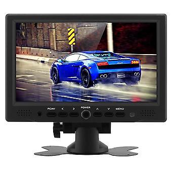 7 polegadas TFT LCD monitor do carro-800x480 resolução nativa, HDMI + entradas de vídeo VGA, 360 grau de giro stand