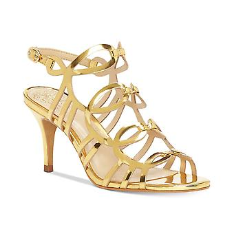 Vince Camuto Womens Petina Leather Open Toe Special Occasion Ankle Strap Sand...