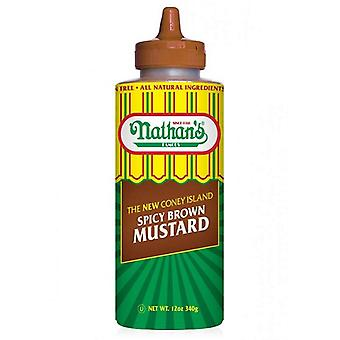 Nathan's Famous The New Coney Island Spicy Brown Mustard