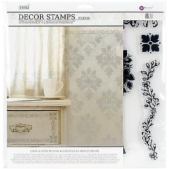 Iron Orchid Designs Decor Clear Stamps-Fleur 814342