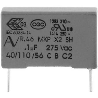 MKP suppression capacitor Radial lead 220 nF 275 V 20 % 15 mm (L x W x H) 18 x 7.5 x 13.5 Kemet R46KI322050M2K+ 1 pc(s