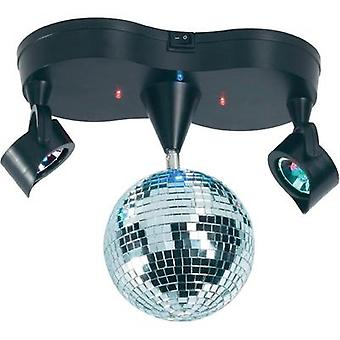 LED (RGB) Mirror ball set incl. LED lighting 13 cm Renkforce 001407923