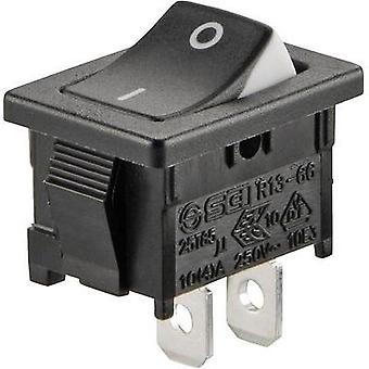 Toggle switch 250 Vac 6 A 1 x Off/On SCI R13-66A3-02 latch 1 pc(s)