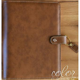 Couleur Crush A5 simili-cuir planificateur 6-Ring Binder 7.5 « X 10 »-noyer A5001-B