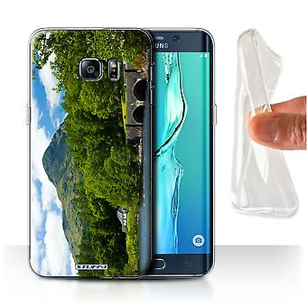STUFF4 Gel/TPU Case/Cover for Samsung Galaxy S6 Edge+/Bridge/Mountain/Scottish Landscape