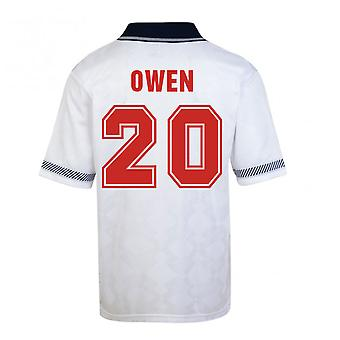 Score Draw England World Cup 1990 Home Shirt (Owen 20)