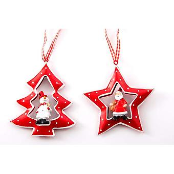 Item International Christmas Metal Decoration Hang 2 Models
