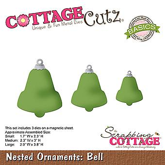 CottageCutz Basics Dies 3/Pkg-Bell, Largest 2.9