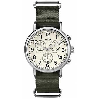 Timex Unisex Weekender Chronograph creme Dial TW2P71400 Watch