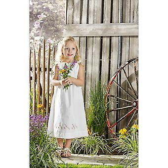 Pretty Posies Pillowcase Dress Stamped For Embroidery Kit-Size 3-8 47694