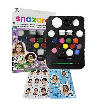 Snazaroo Ultimate Party Pack Face Paint, Glitter & Brush Fancy Dress Accessory