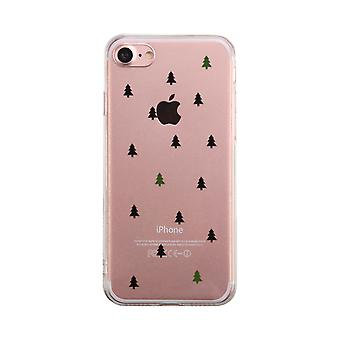 Christmas Tree Pattern Transparent Phone Case Cute Clear Phonecase