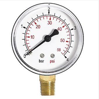 60mm Pressure Gauge Water 1/4inch Bspt  Manometer