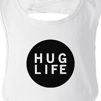 Hug Life White Baby Bib Infant Bibs Gifts Ideas For Baby Shower