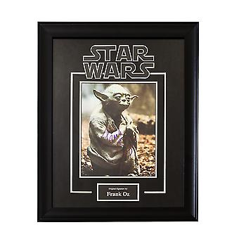 Star Wars - Yoda firmado por Frank Oz Movie foto - enmarcado Artist Series