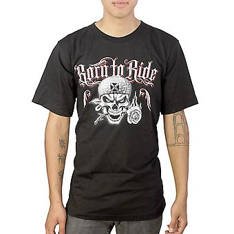 Del Barrio født at Ride mænds sort T-shirt