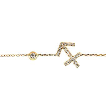 Latelita Zodiac Sagittarius Sterling Silver Bracelet Star Astrology Rose Gold