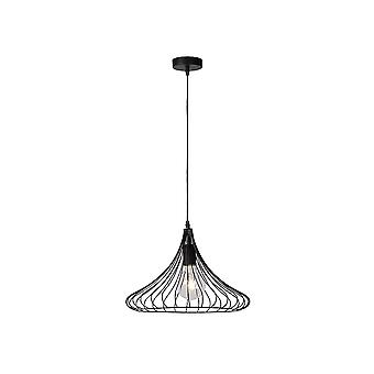 Lucide VINTI Black Wire Grill Pendant Ceiling Light