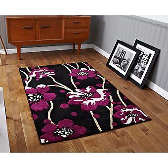 Verona 216 zwart-paars zwart / paars rechthoek tapijten moderne tapijten